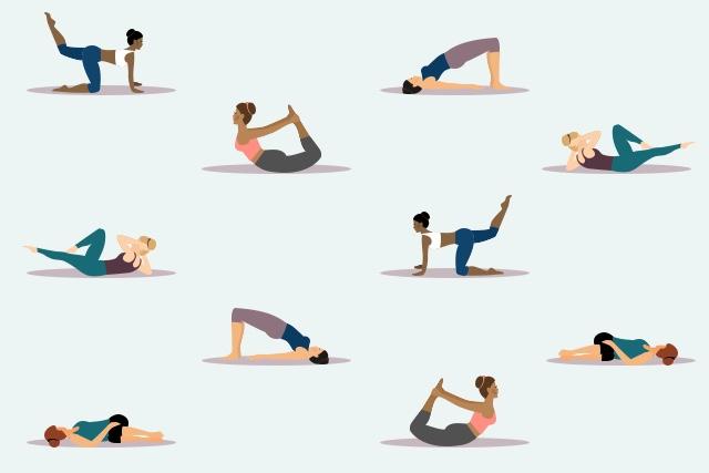 Pelvic Stretch Exercise Illustration